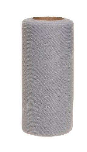 Falk Fabrics Tulle Spool for Decoration, 6-Inch by 25-Yard, Grey ()