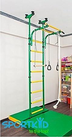 Ensemble Aire de jeu pour Enfants Qui se Connecte au Sol et Plafond  Intérieur Kit Sport Gym Entraînement avec Equipement Accessoires   Ensemble  Barre ... a0e0846210e