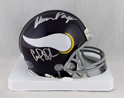 (Purple People Eaters Autographed Minnesota Vikings Mini Helmet- JSA Auth)