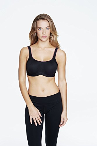 Dominique Maximum Control Sports Bra, 36I, Black