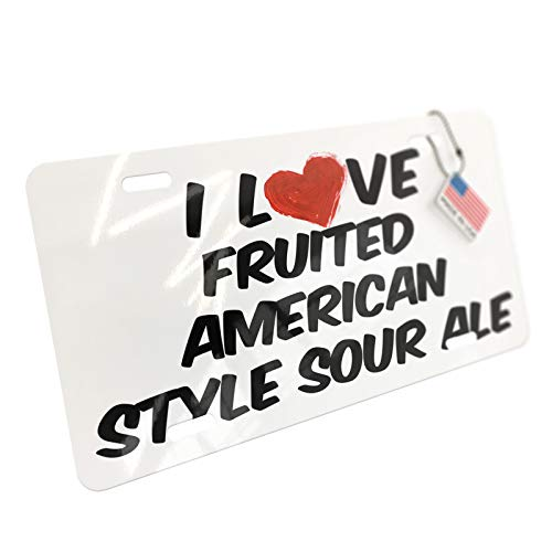 (NEONBLOND I Love Fruited American Style Sour Ale Beer Aluminum License)