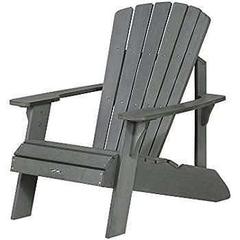 Lifetime Faux Wood Adirondack Chair, Gray   60204