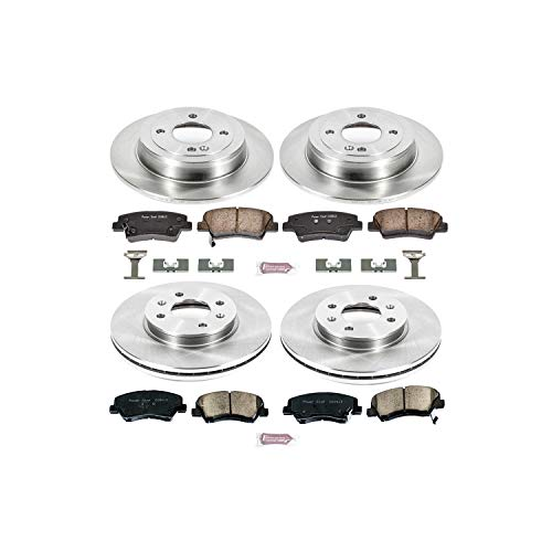 Power Stop KOE6509 Autospecialty Daily Driver OE Brake Kit (Brake Caliper Accents)