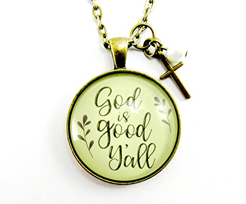 24-god-is-good-yall-southern-saying-faith-necklace-shabby-vintage-style-bronze-round-glass-pendant-c