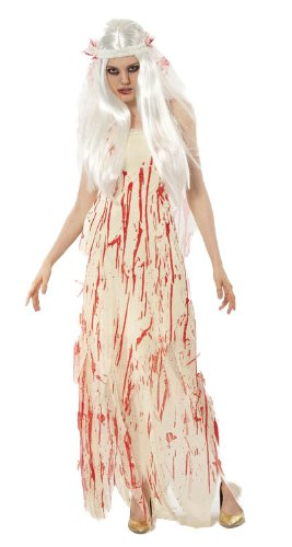 DEAD BRIDE/BLOOD STAINED PROM QUEEN FANCY DRESS HALLOWEEN COSTUME