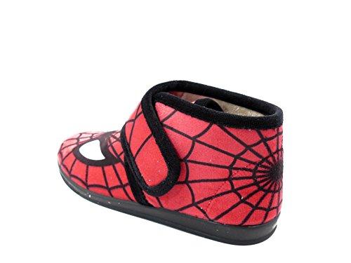 Vulca Bicha Bota Niño estar EN casa VULCABICHA, Paño Color Rojo, Estampado Spiderman - 1086 (31, Rojo)