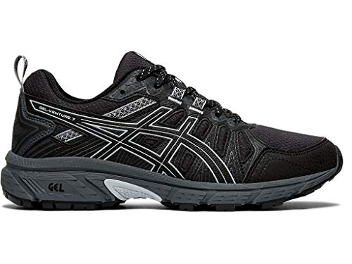 ASICS Women's Gel-Venture 7 (D) Shoes, 8W, Black/Piedmont Grey