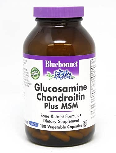 BlueBonnet Glucosamine Chondroitin Plus MSM Supplement, 180 Count