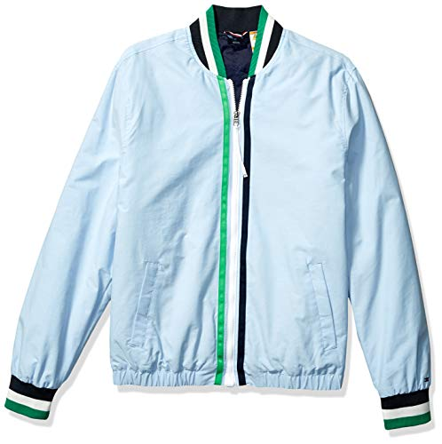 - Tommy Hilfiger Men's Adaptive Tennis Bomber Jacket with Magnetic Zipper, Collection Blue, Large