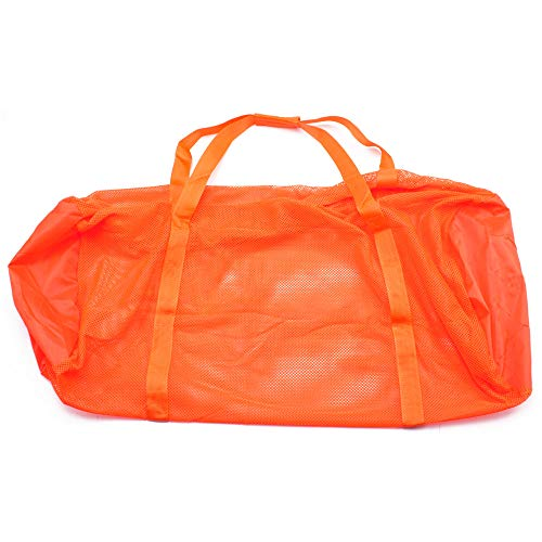 (Heavy-Duty Mesh Duffle Bag. Great for Sports Equipment, Scuba Diving, Snorkeling, Swimming and More (Orange))