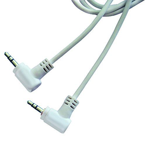 Arista Mini Plug Audio 12-Feet Cable - Retail Packaging - White (12' Audio Truck)
