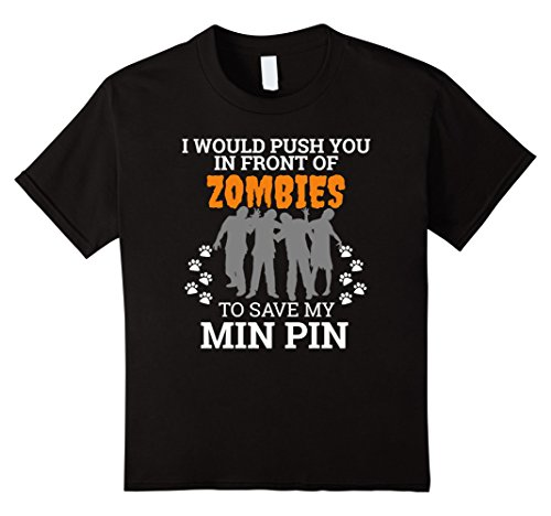 Kids Push You In Front of Zombies to Save Min Pin Dog Halloween 10 (Min Halloween)