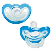 RaZbaby JollyPop Baby Pacifier Newborn, 0-3m, BLUE, Double pack