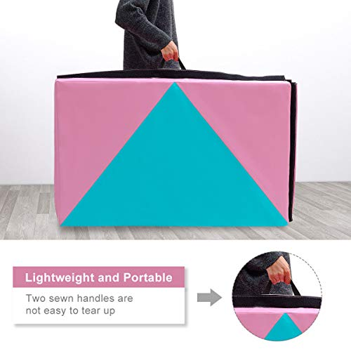 COSTWAY 4'X10'X2 Gymnastics Mat Folding Portable Exercise Aerobics Fitness Gym Exercise by COSTWAY (Image #3)
