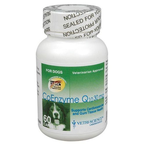 Vetri-Science Laboratories Coenzyme Q10 Supplement for Dogs, 30mg, My Pet Supplies