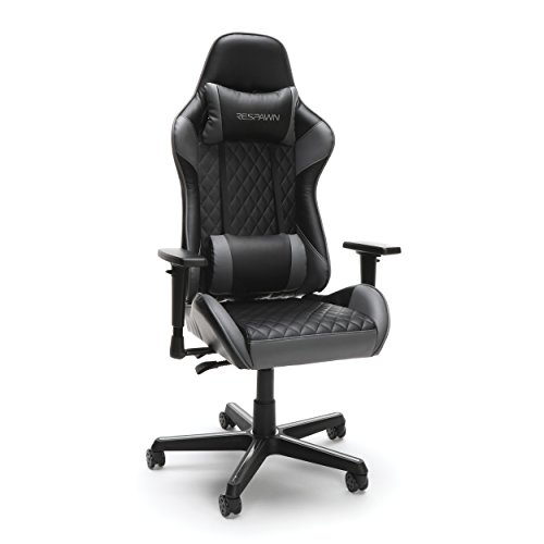 RESPAWN-100 Racing Style Gaming Chair - Reclining Ergonomic Leather Chair, Office or Gaming Chair (RSP-100-GRY) OFM Education