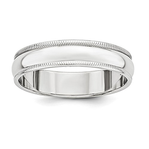 Brilliant Bijou Solid .925 Sterling Silver 5mm Half Round Milgrain Band Size 8