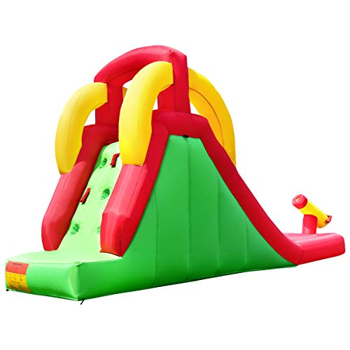 Costzon Inflatable Water Slide, Climb and Slide Bouncer for Kids Without Blower by Costzon (Image #4)