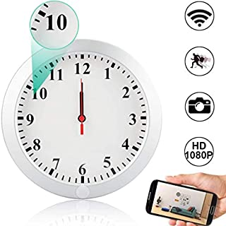 Wall Clock Camera, Camakt 1080P HD WiFi Clock Camera Wireless Digital Nanny Cam with Motion Detection/Loop Recording Cover Security Camera