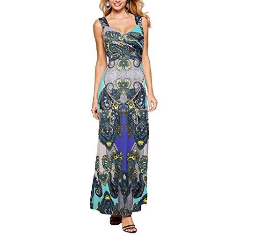 CoCo fashion - Vestido - trapecio - Sin mangas - para mujer Z603_Blue