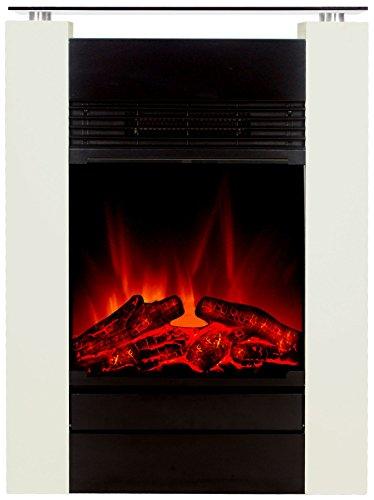 El Fuego Elektrokamin mit täuschend echtem Flammeneffekt B, 1 Stück, Tessin weiß