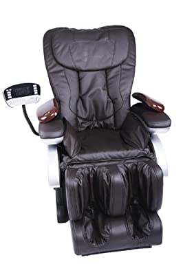 Electric Full Body Shiatsu Brown Massage Chair Recliner Stretched Foot Rest 06C reviews