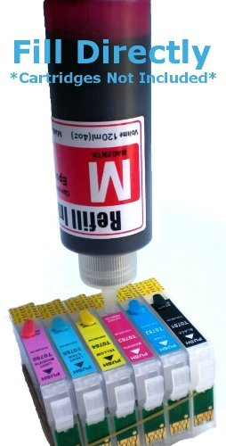 Ink refill set for CIS/CISS or refillable cartridges using Epson 77, 78 ink: Artisan 50 Photo #3