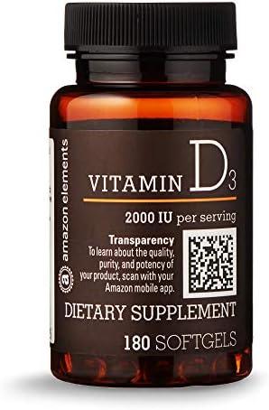 Amazon Elements Vitamin Softgels supply product image