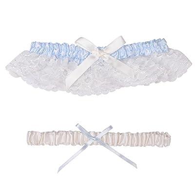 HardNok Throw Away and Keep One Wedding Garter Set, Blue/Ivory, 2 Per Pack