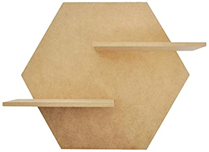 Amazon Com Kaisercraft Sb2402 Beyond The Page Mdf Hexagon Shelf