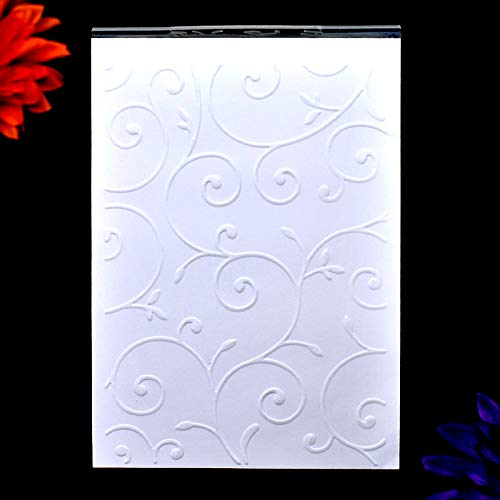 Kwan Crafts Sprout Leaves Plastic Embossing Folders for Card Making Scrapbooking and Other Paper Crafts,10.4x14.9cm