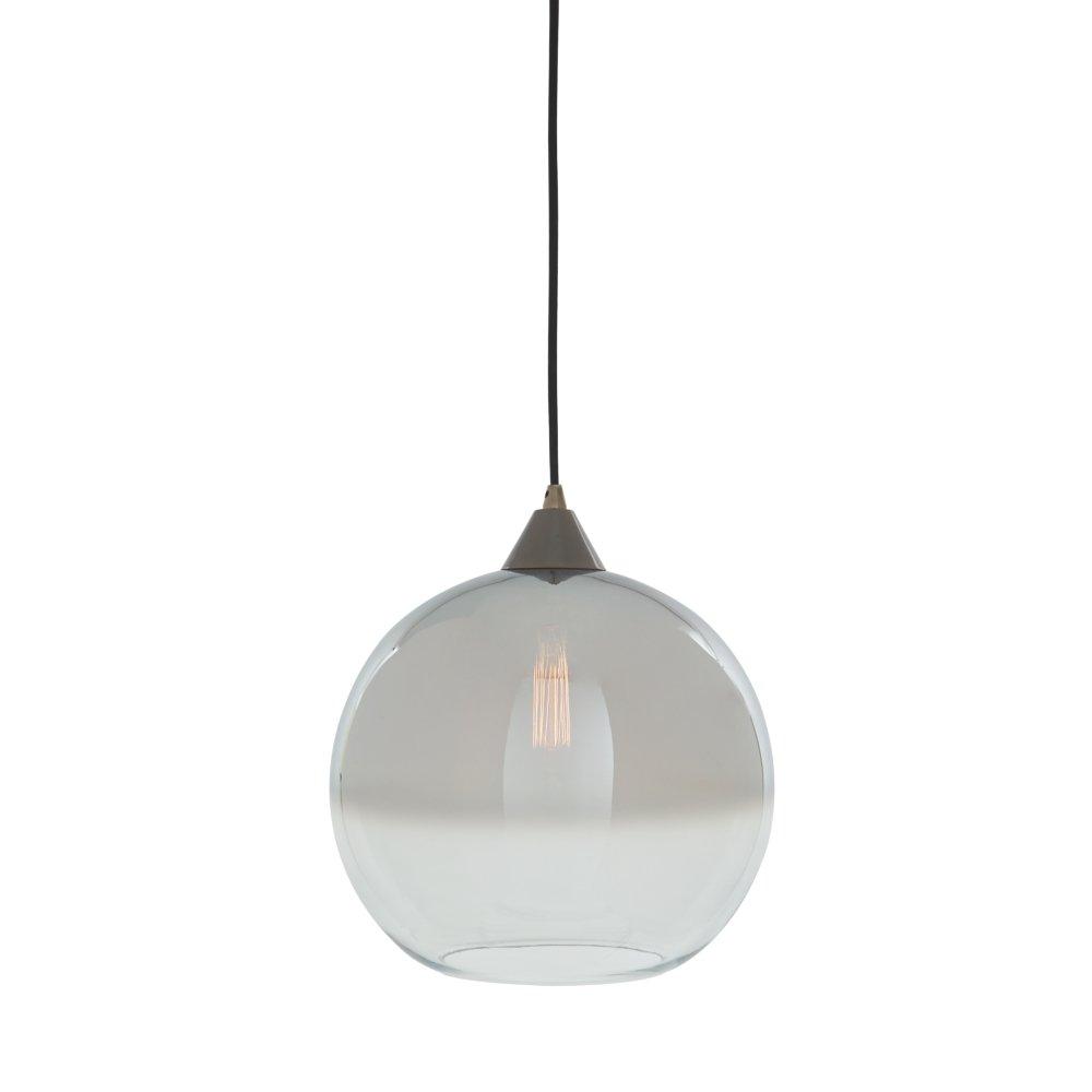 Ashley Furniture Signature Design - Minto Glass Pendant Light - Clear & Silver Finish
