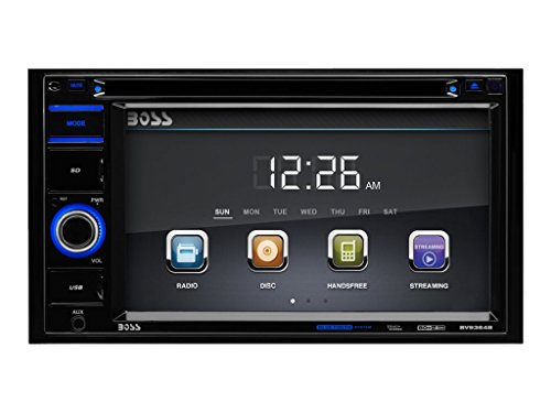 BOSS Audio Systems BV9364B Car Stereo DVD Player – Double Din, Bluetooth Audio Hands-Free Calling, 6.2 Inch Touchscreen LCD Monitor, MP3 Player, CD, DVD, USB Port, SD, AUX Input, AM FM Radio Receiver