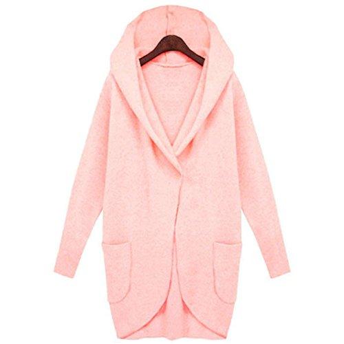 Giacche Per Outwear L'inverno Cappuccio Donne Casual Mttroli Rosa Di Lungo Caldo Cappotto Modo Cappotto Cappotti Con AqpwvxTI