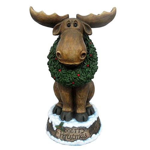 design house 23 led merry christmas moose with wreath light up lawn decoration - Moose Christmas Yard Decorations