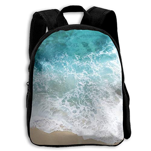Beach Shore Wave Sea Water Kid Backpacks For Boys And Girls Preschool Backpack School Bag