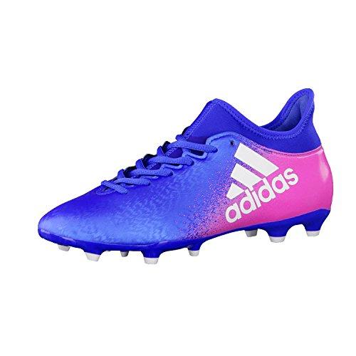 adidas X 16.3 FG, Botas de Fútbol Para Hombre BLUE/FTWWHT/SHOPIN