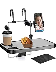 ToyBasics Car Back Seat Tray Table with Phone Mount Portable Car Trays for Kids Roadtrip Eating and Travel