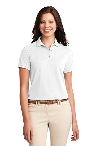 Port Authority Women's Silk Touch Polo 3XL White