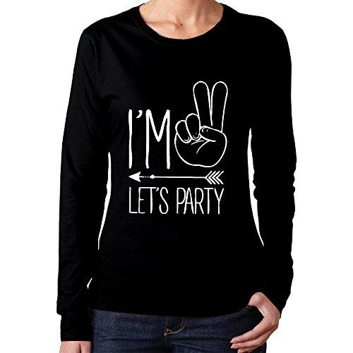 NOAC Women's I'm Two Let's Party Hipster Arrow 2nd Bir Political Long T Shirt
