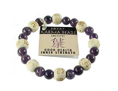 Zorbitz Inc. - Lucky Karma Bracelet with Amethyst for Good Health / Inner Strength
