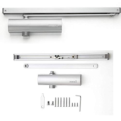 - Modern Hold Open Arm Assembly Heavy Duty Automatic Door Closer - Sexy and Slick Commercial Grade Hydraulic Operated - for Commercial Use Model DI 500S