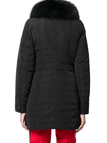 Poliéster PED227501181294BLACK Mujer Peuterey Abrigo Negro BHfxwqz