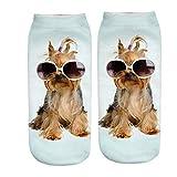 LOVEFIGHTER Christmas Funny Socks Unisex 3D Fashion Printed Casual Socks Cute Low Cut Ankle Socks