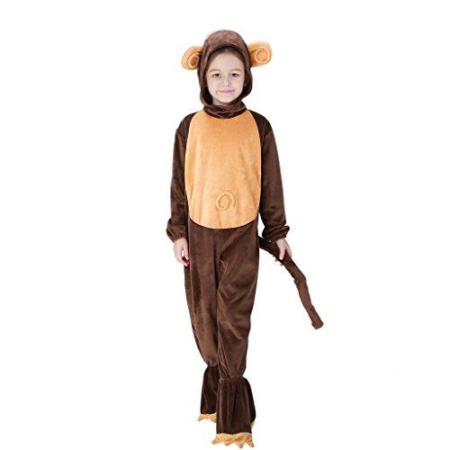Halloween Animal Monkey Adult Kid Jumpsuit Cosplay Costume Suit Bathrobe (Cosplay Suits)