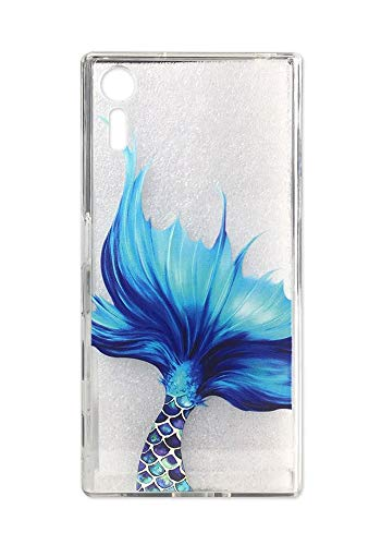 Sony Xperia XZ/XZs Case, Cute Blue Mermaid Design for Girls Clear Bumper Shockproof Flexible Silicone Protective Cases for Sony Xperia XZ (2016) / XZs (2017) (Mermaid -