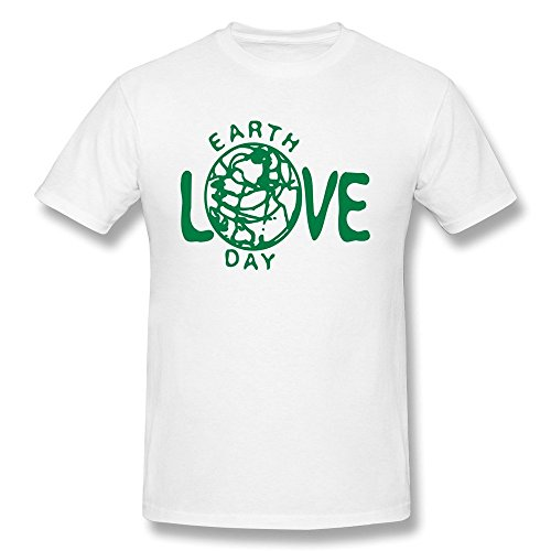 HD-Print Particular Love Earth Day Tshirt For Men White Size ()