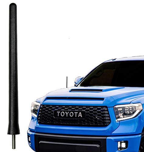 Antenna Compatible Original Replacement - AntennaMastsRus - The Original 6 3/4 INCH is Compatible with Toyota Tundra (2000-2019) - SHORT Rubber Antenna - Reception Guaranteed - German Engineered - Internal Copper Coil