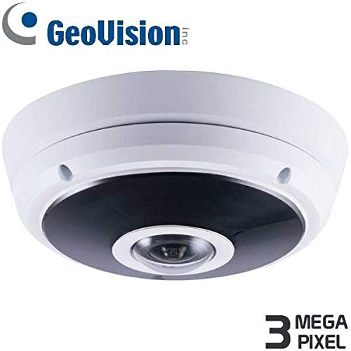 (GeoVision GV-EFER3700 | 3MP H.265 Super Low Lux Wdr Pro IR Fisheye Rugged IP Camera)