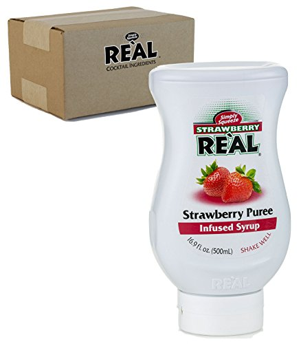 Strawberry Reàl, Strawberry Puree Infused Syrup, 16.9 FL OZ Squeezable Bottle (Pack of 1) (Syrup Strawberry Drink)